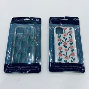 LOT of 2 iPhone 11 Casely Floral Cactus Snap Case